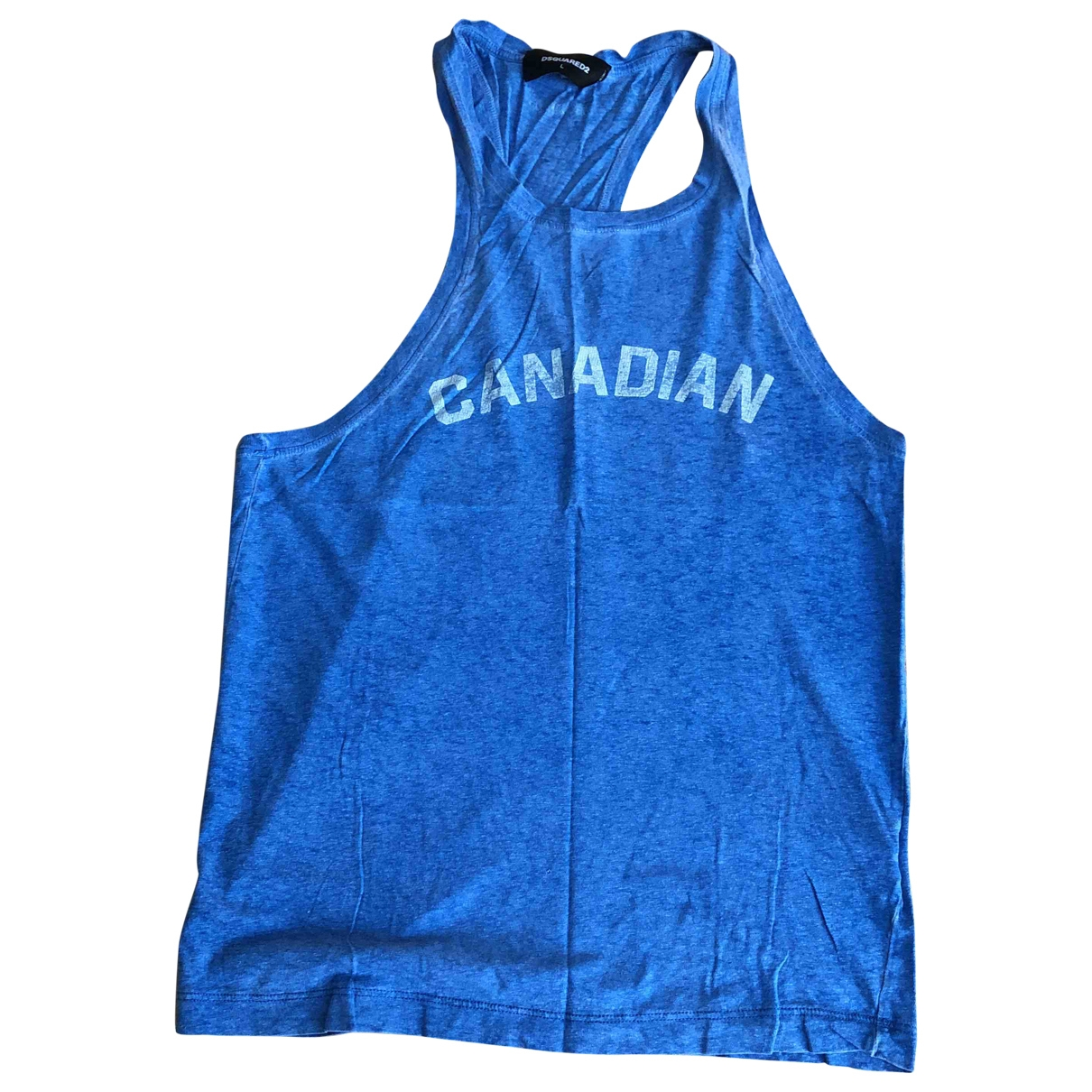 Dsquared2 \N Blue Cotton T-shirts for Men L International