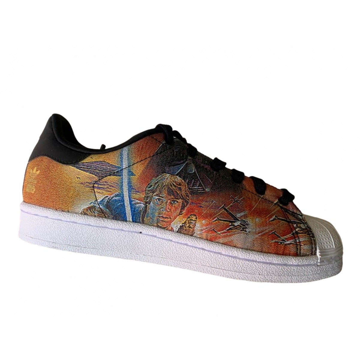 Adidas Superstar Orange Leather Trainers for Women 5 UK
