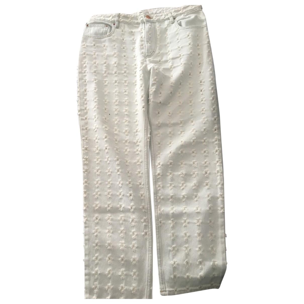 Isabel Marant Etoile \N White Cotton Trousers for Women 40 FR