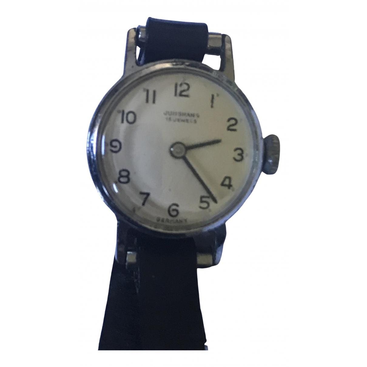 Junghans \N Black Steel watch for Women \N