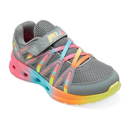 Fila Crater 8 Girls Running Shoes, 2 Medium, Gray
