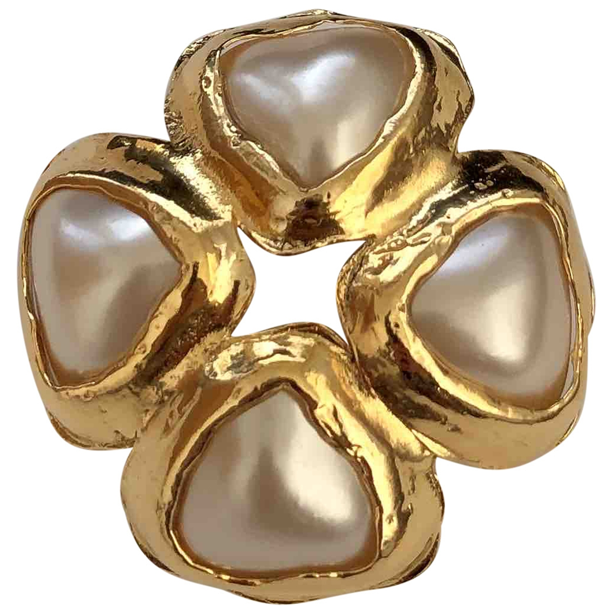 Chanel Camélia White Metal Pins & brooches for Women \N