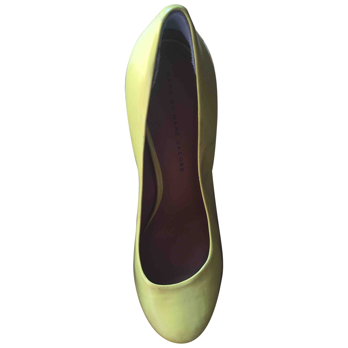 Marc By Marc Jacobs \N Yellow Leather Heels for Women 37.5 EU