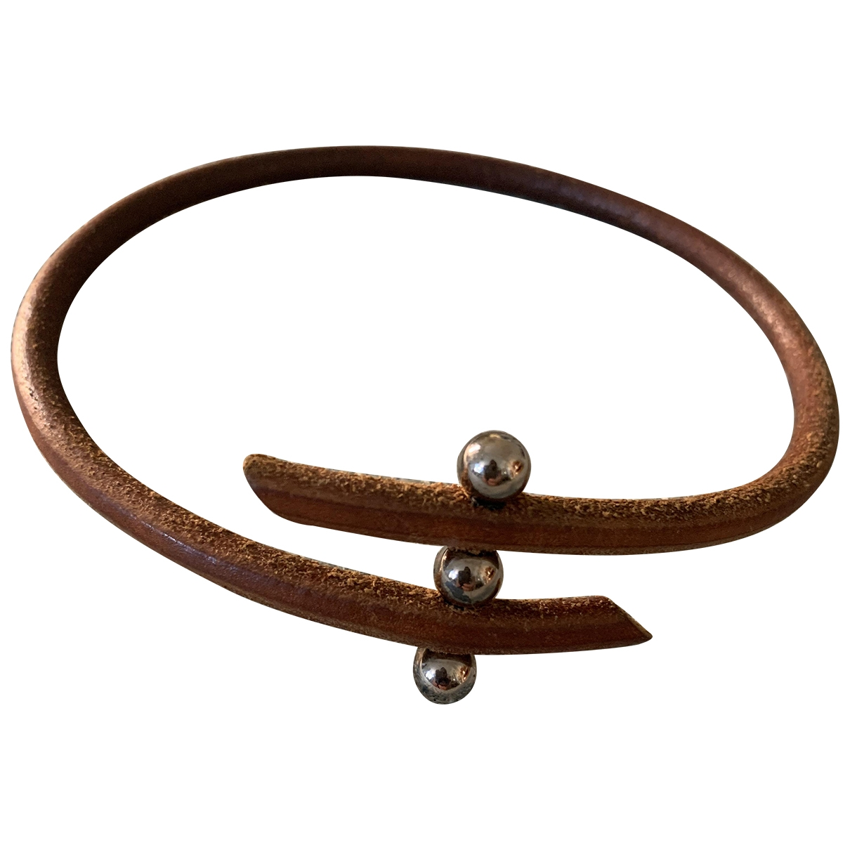 Hermès \N Brown Leather necklace for Women \N