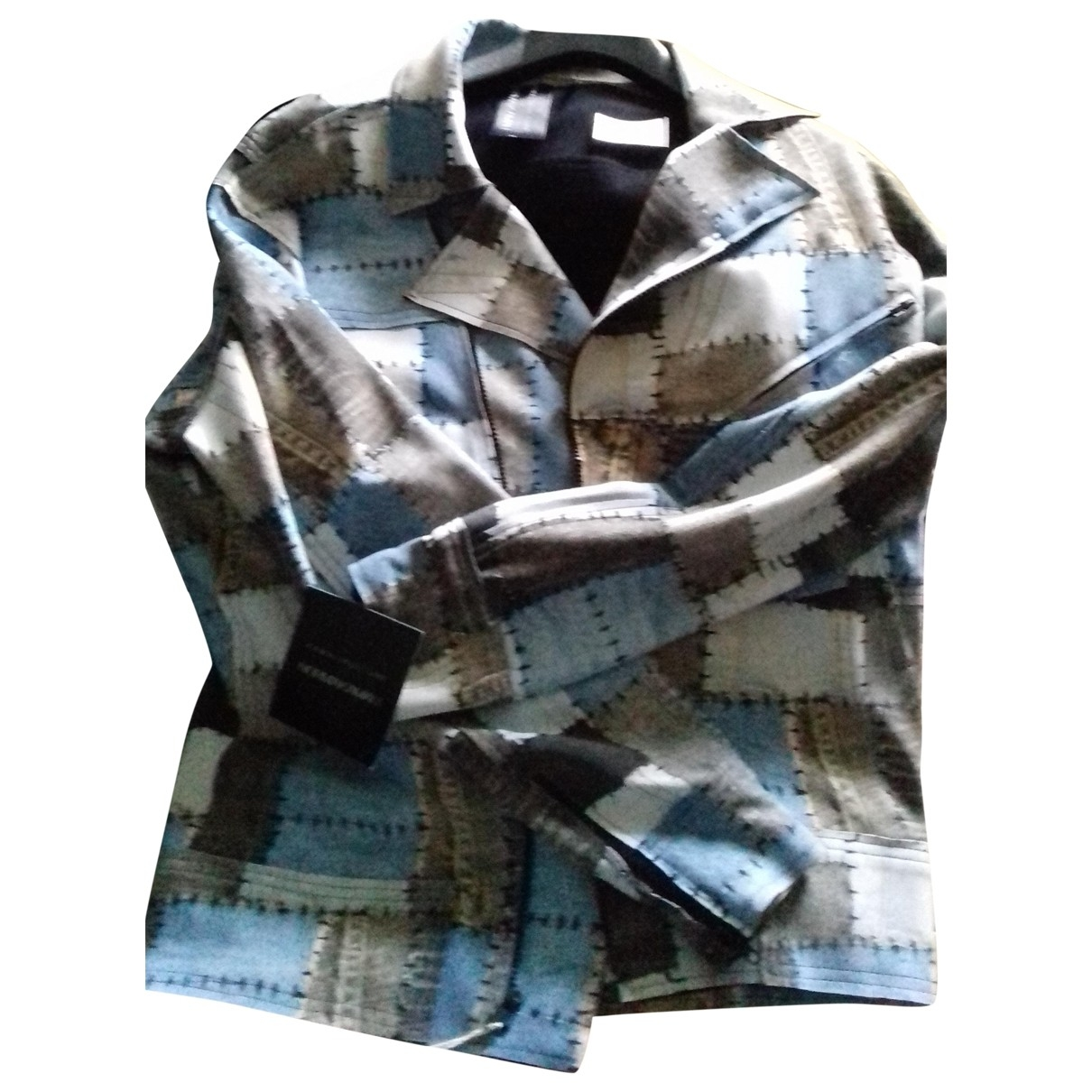 Norma Kamali \N Blue Leather jacket for Women M International