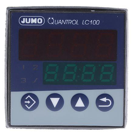 Jumo QUANTROL PID Temperature Controller, 48 x 48mm 1 (Analogue) Input, 2 Output Analogue, 20 → 30 V ac/dc