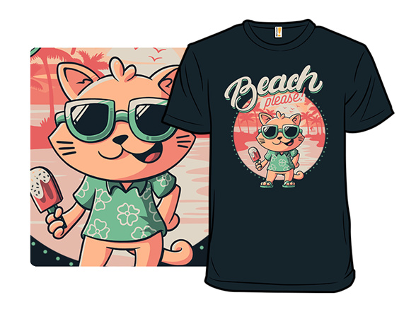 Beach Please Kitty T Shirt