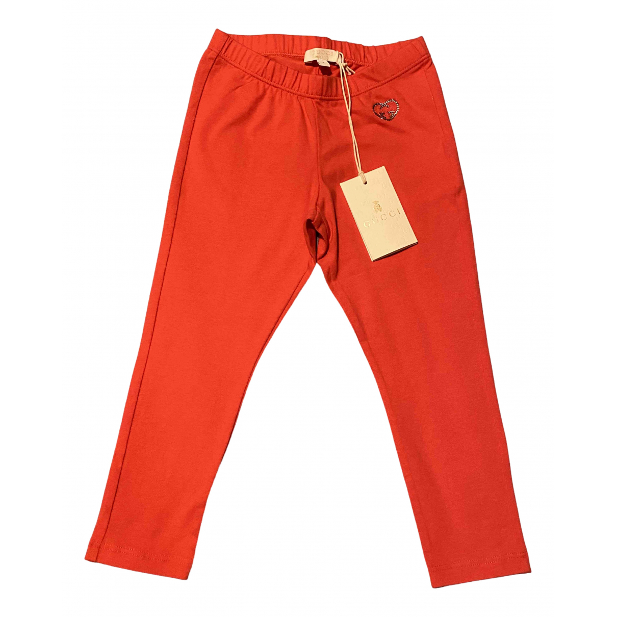 Gucci \N Red Cotton Trousers for Kids 2 years - up to 86cm