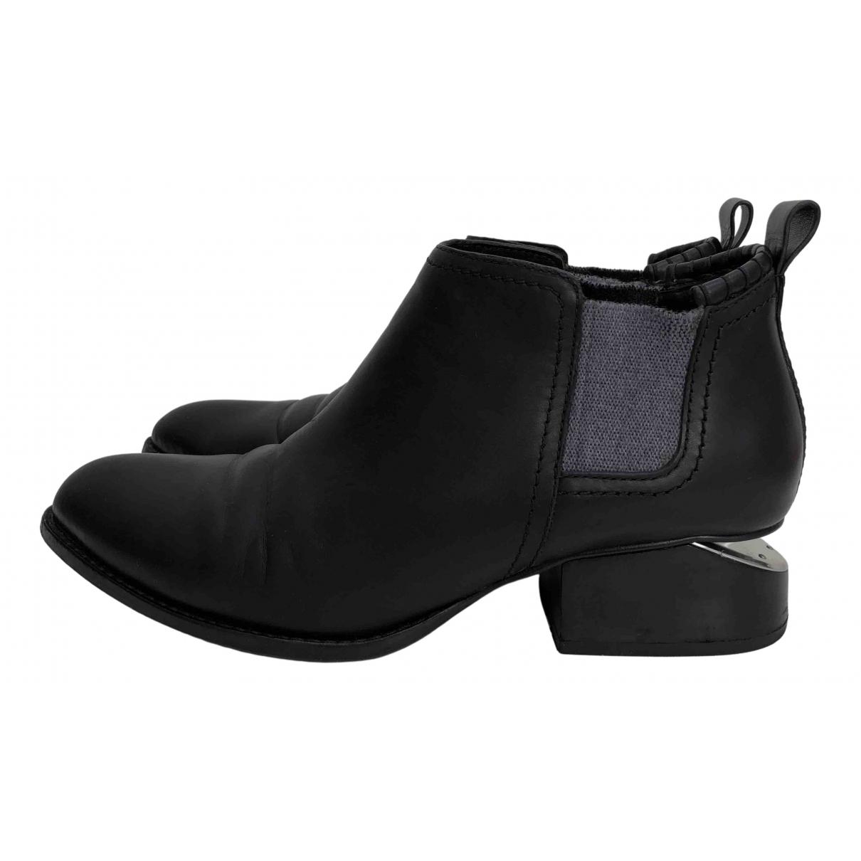 Alexander Wang Kori Black Leather Ankle boots for Women 39 EU