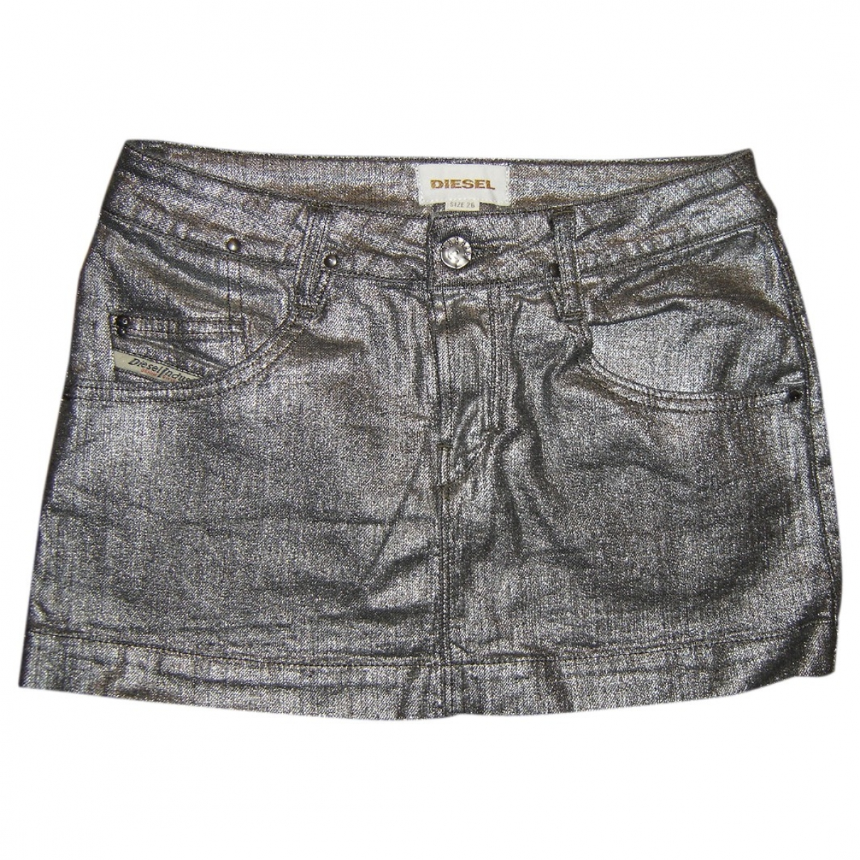Diesel \N Silver Cotton skirt for Women XS International