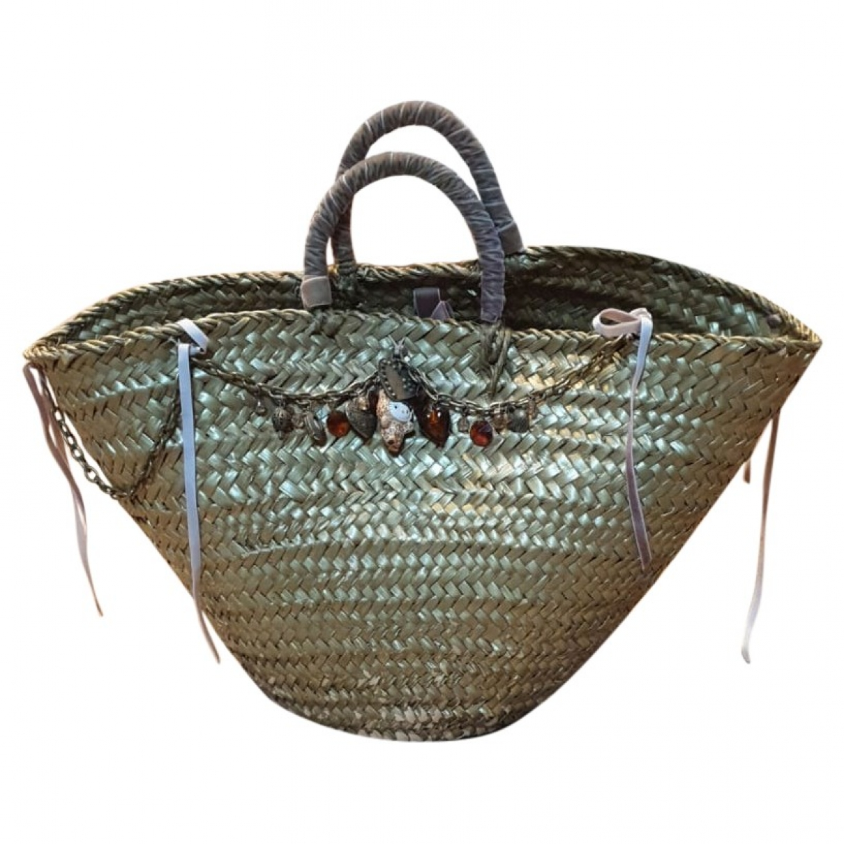 Non Signé / Unsigned \N Wicker handbag for Women \N