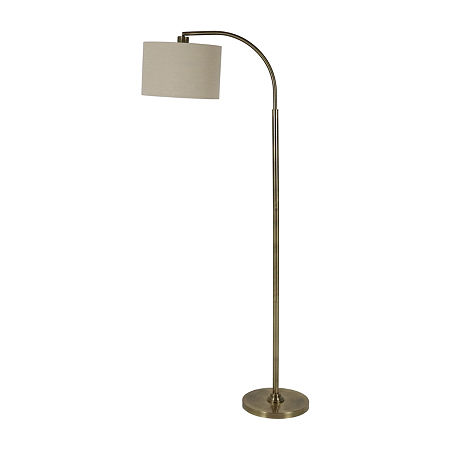 Decor Therapy Steel Floor Lamp, One Size , Yellow