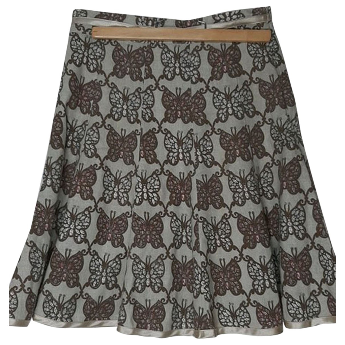 Berenice \N Grey Cotton skirt for Women 34 FR