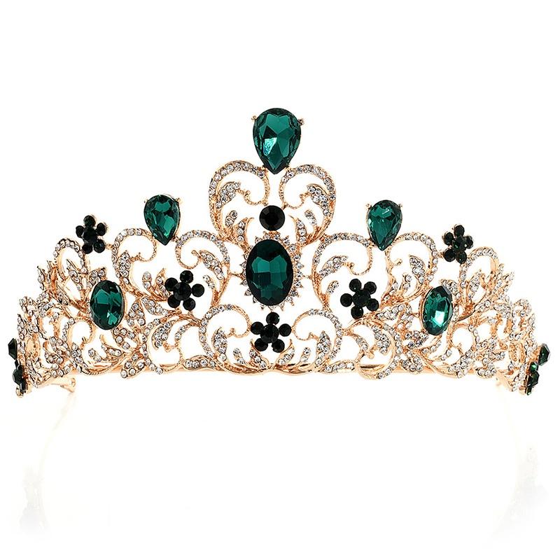 Tiara Crown Diamante Hair Accessories