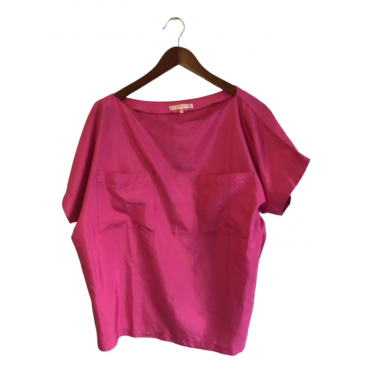 Non Signé / Unsigned \N Pink Silk  top for Women L International