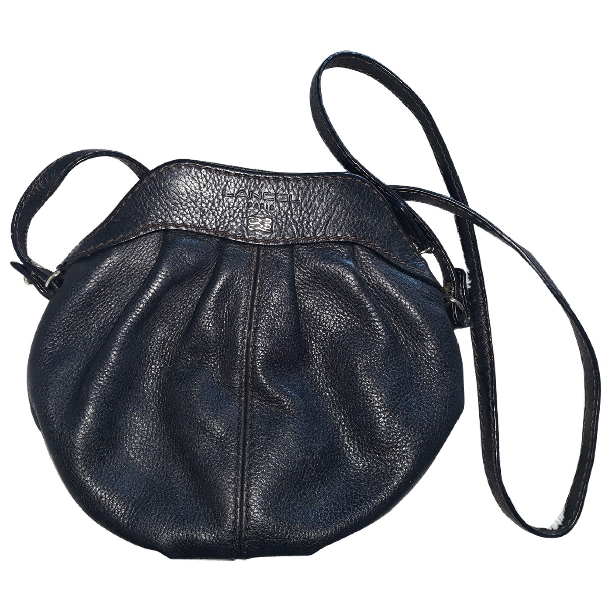 Lancel \N Black Leather Clutch bag for Women \N