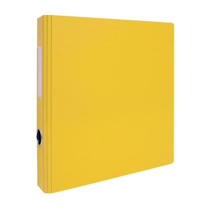 Geo 2'' D-Rings Binder with Hole and Label Holder - 8 Colours Available - Yellow 239111