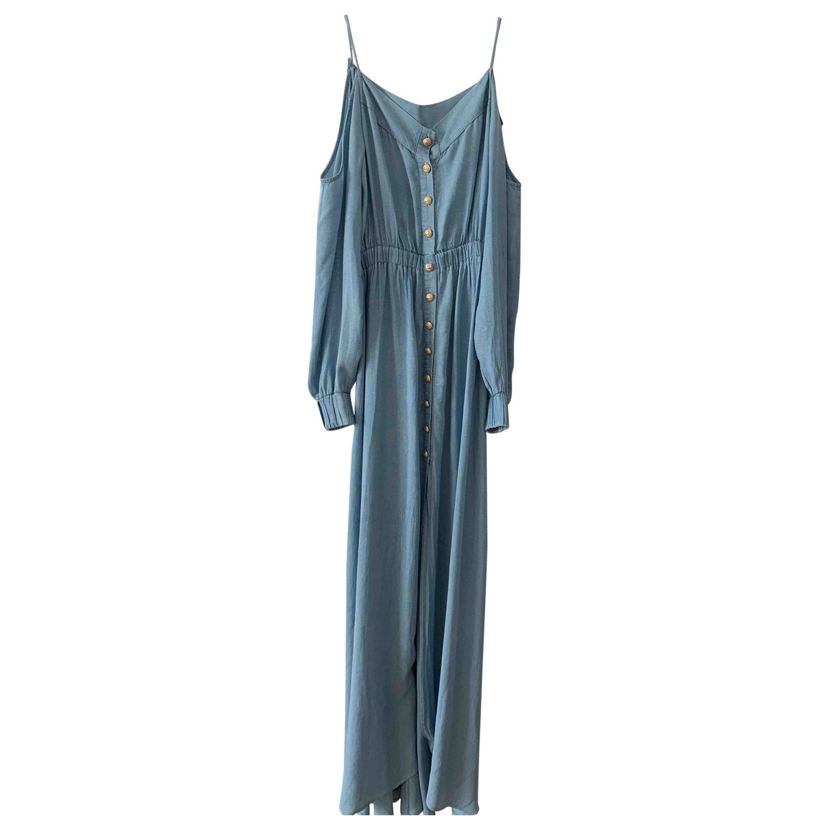 Balmain \N Turquoise Cotton dress for Women 34 FR