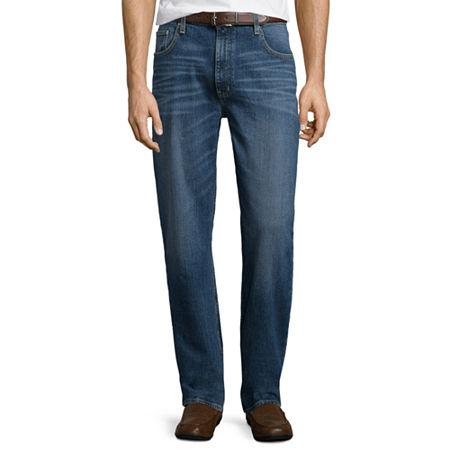 St. John's Bay Regular-Fit Comfort Stretch Denim Jeans, 34 34, Blue