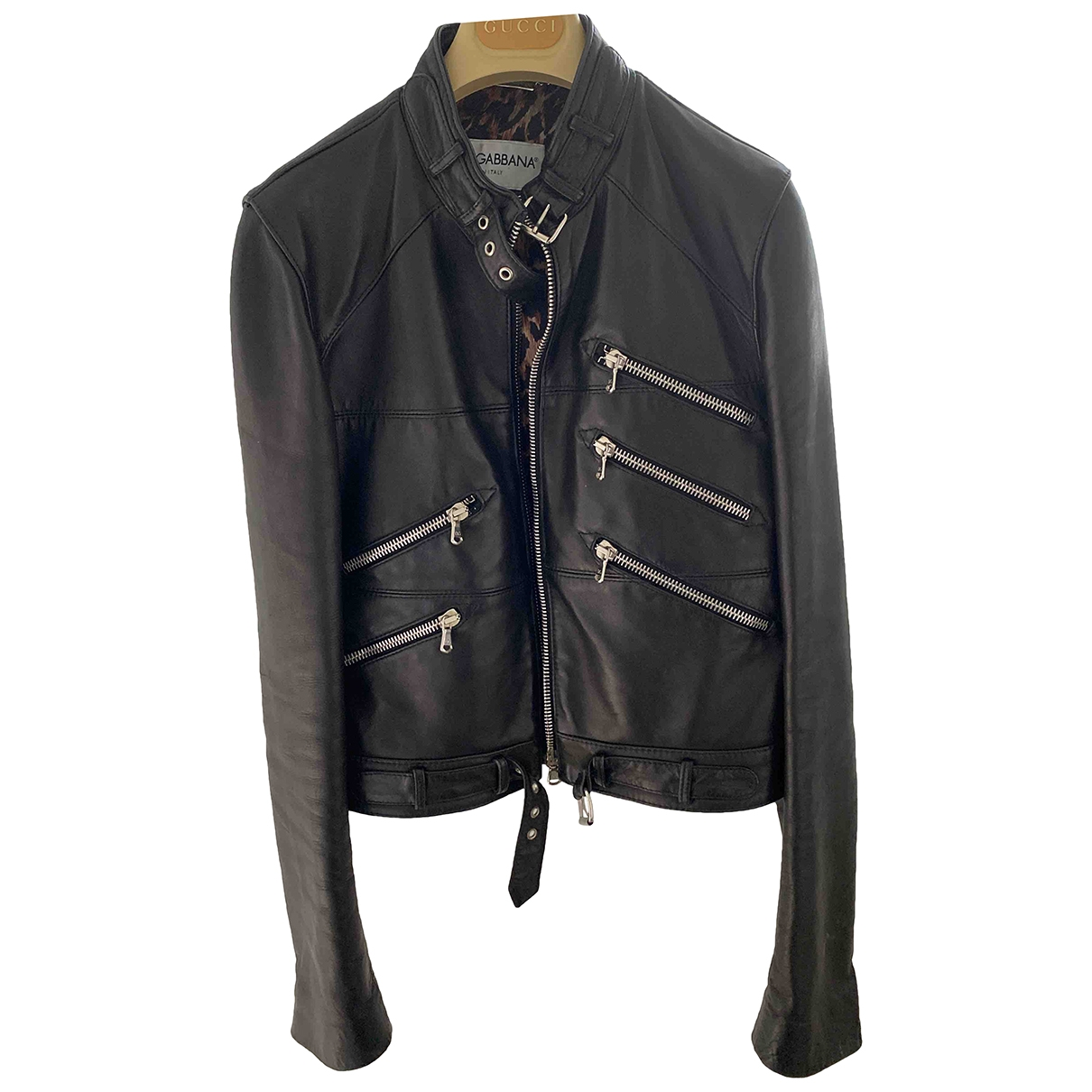 Dolce & Gabbana \N Black Leather Leather jacket for Women 44 IT