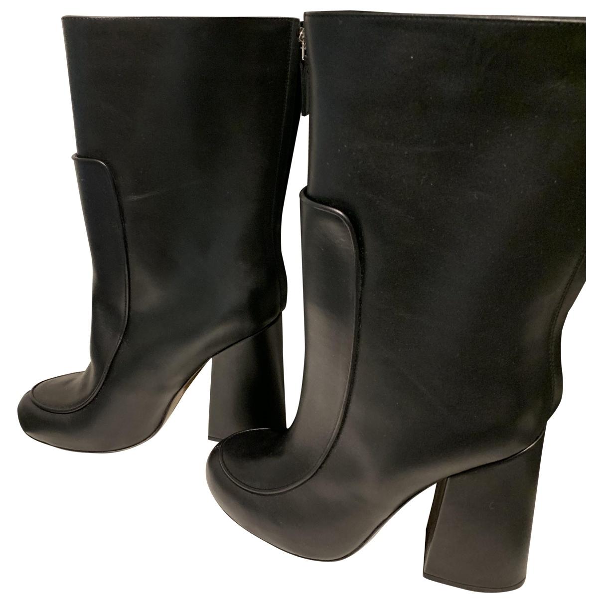 Victoria Beckham \N Black Leather Boots for Women 38 EU