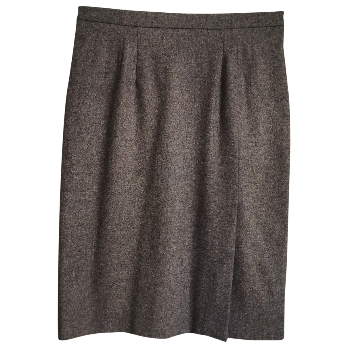 Christian Dior \N Grey Wool skirt for Women 42 FR