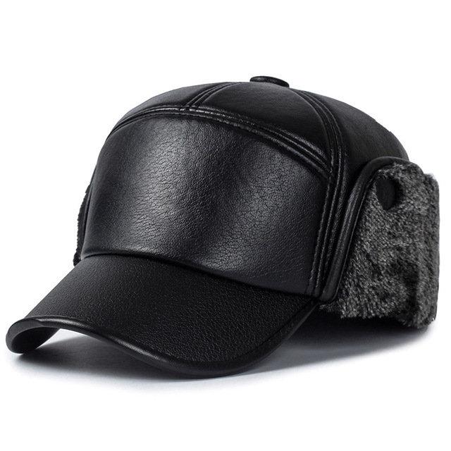 Trapper Hat Male Outdoor Thick Warm Earmuffs Baseball Cap Waterproof