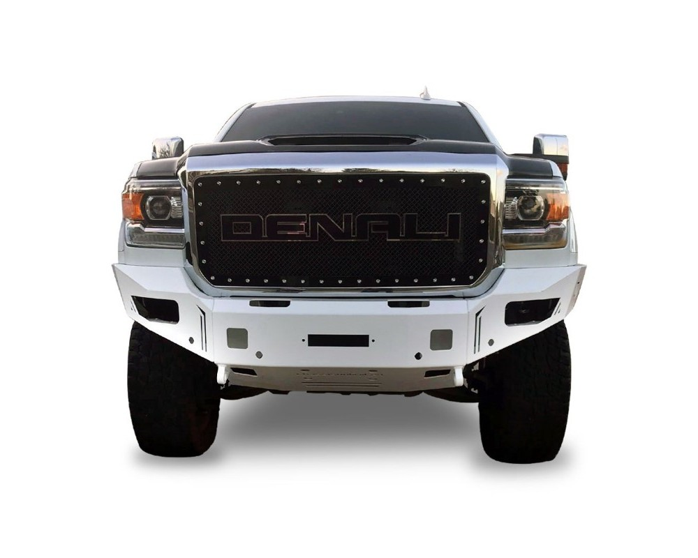 Chassis Unlimited CUB940302 Sierra Front Winch Bumper For 15-19 Sierra 2500HD/3500HD Sensors Included Octane Series