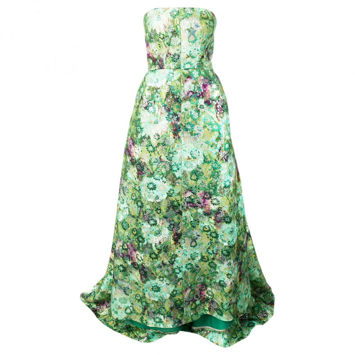 Giambattista Valli \N Green Silk dress for Women 46 IT