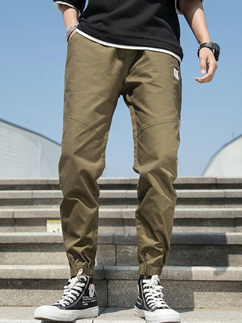 Ericdress Pencil Pocket Thin Elastics Men's Casual Pants