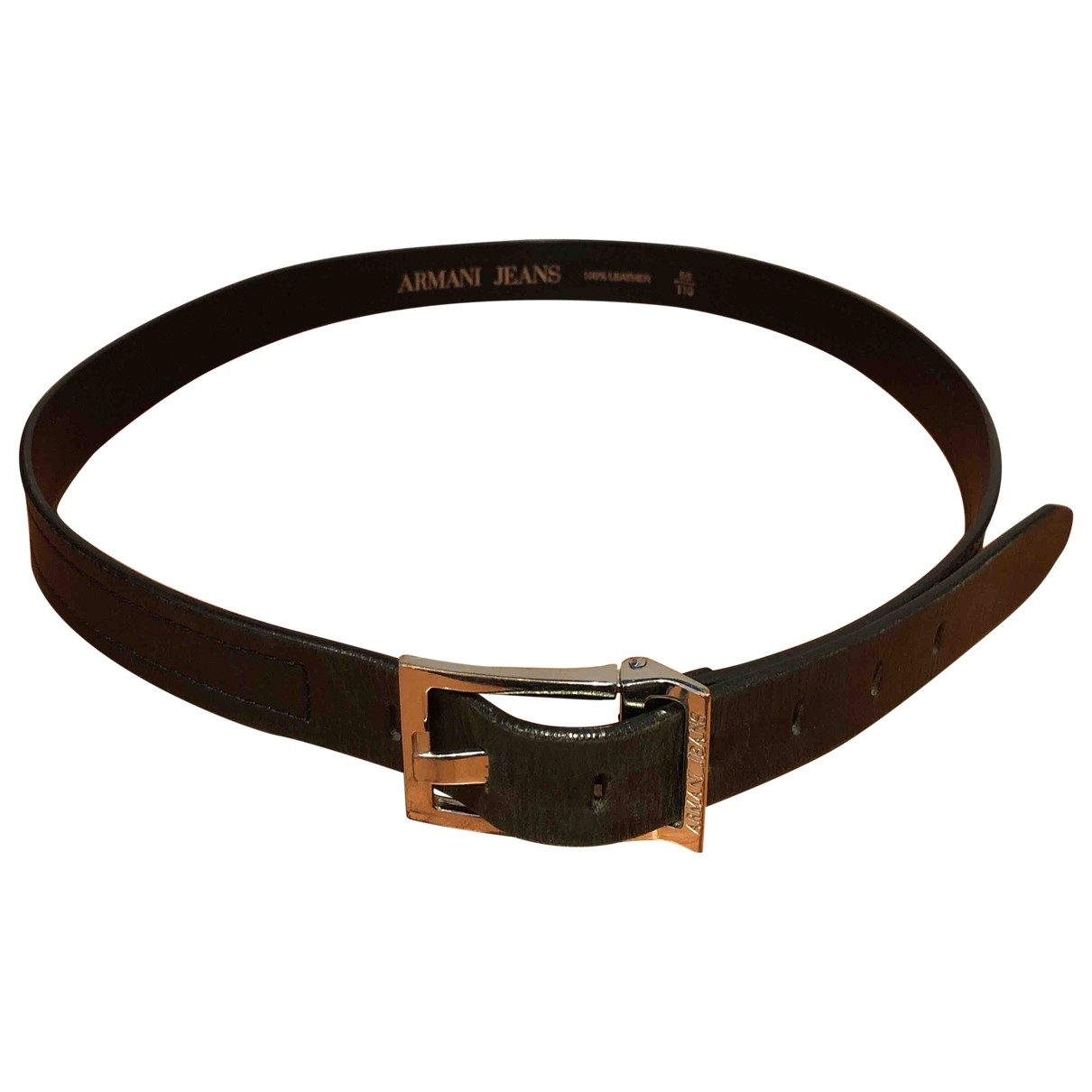 Armani Jeans \N Black Leather belt for Men 95 cm