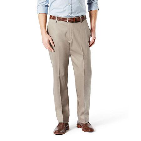 Dockers Big & Tall Classic Fit Signature Khaki Lux Cotton Stretch Pants D3, 46 30, Beige