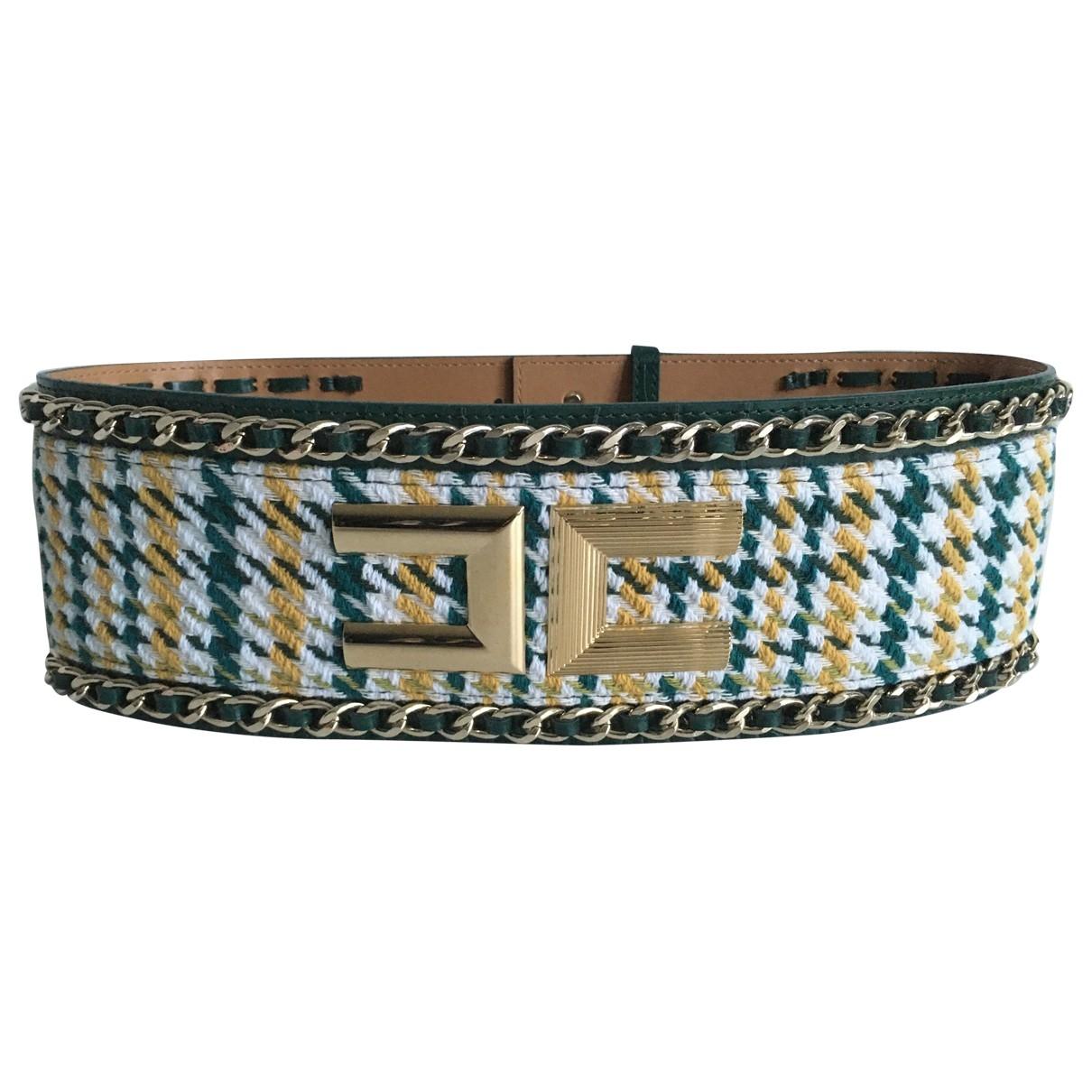 Elisabetta Franchi \N Green Cloth belt for Women 70 cm