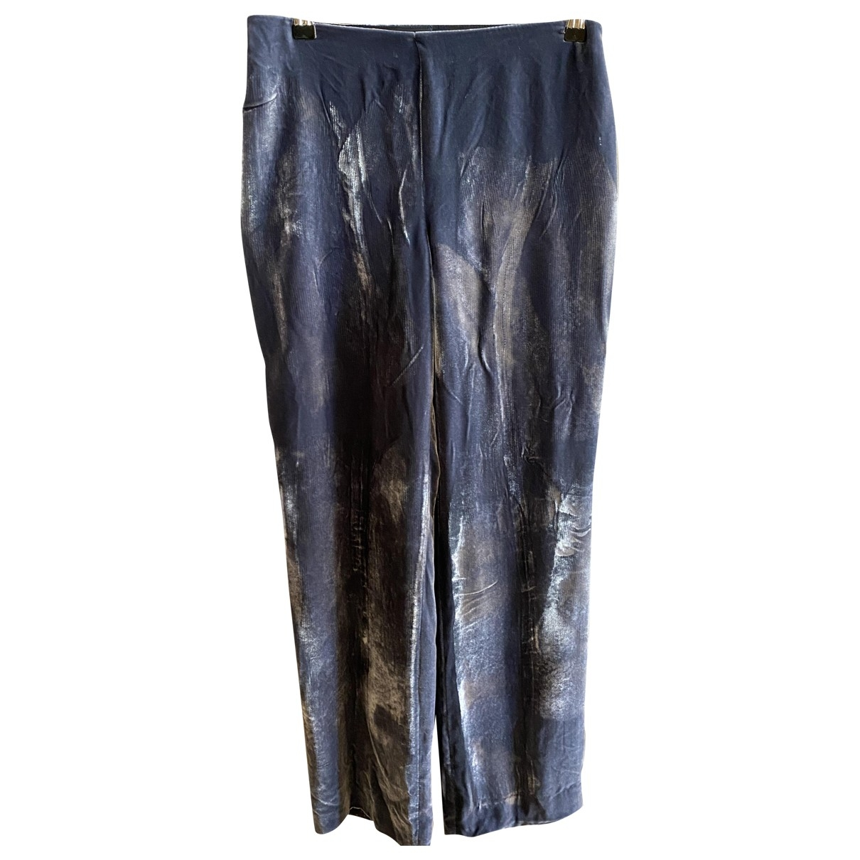 Emporio Armani \N Grey Trousers for Women 42 IT