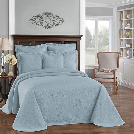 Historic Charleston Collection King Charles Matelassé Bedspread, One Size , Blue