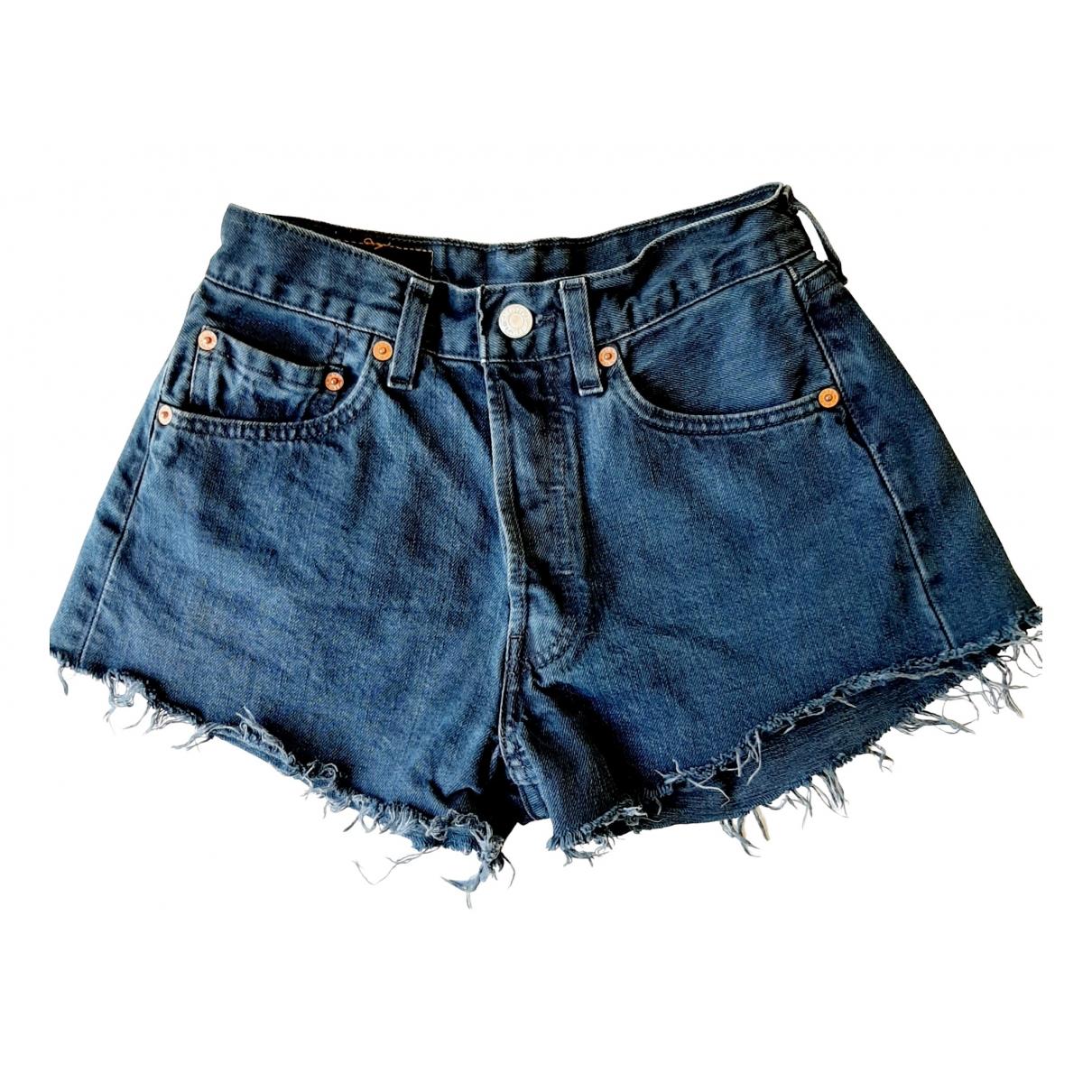 Levi's Vintage Clothing \N Blue Denim - Jeans Shorts for Women XS International