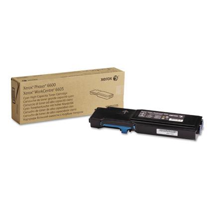 Xerox 106R02225 cartouche de toner cyan originale pour Phaser 6600/WorkCentre 6605 (rendement élevé)