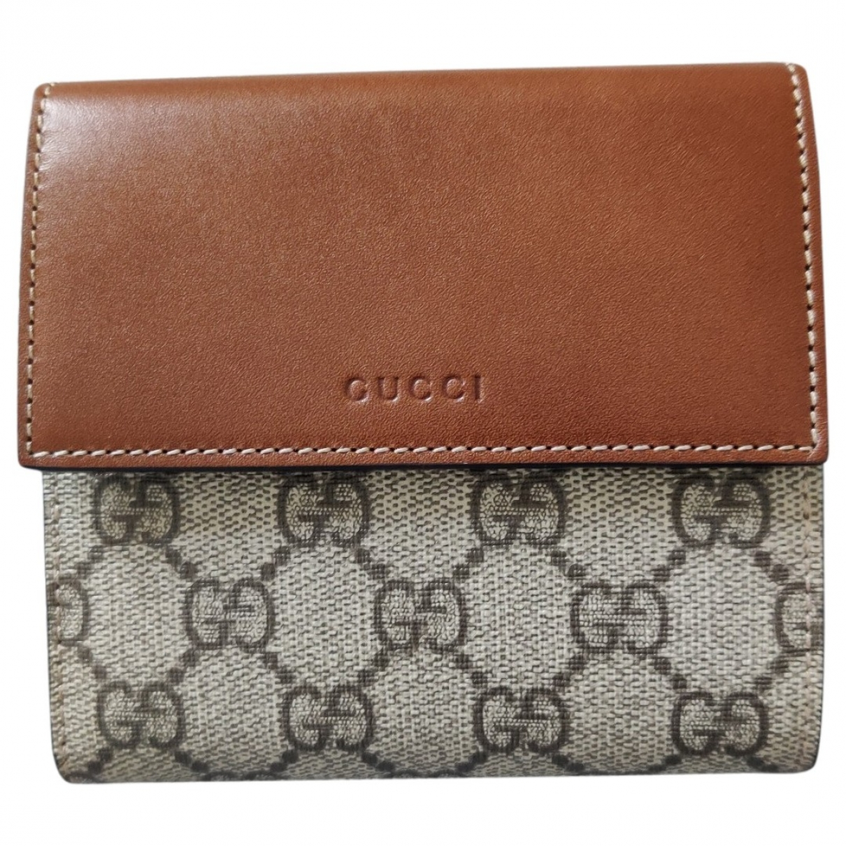 Gucci \N Brown Leather Small bag, wallet & cases for Men \N