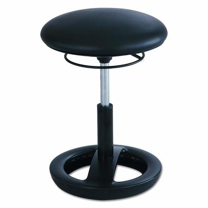 Safco Twixt® Active Seating Chair, Extended-Height - Black Vinyl