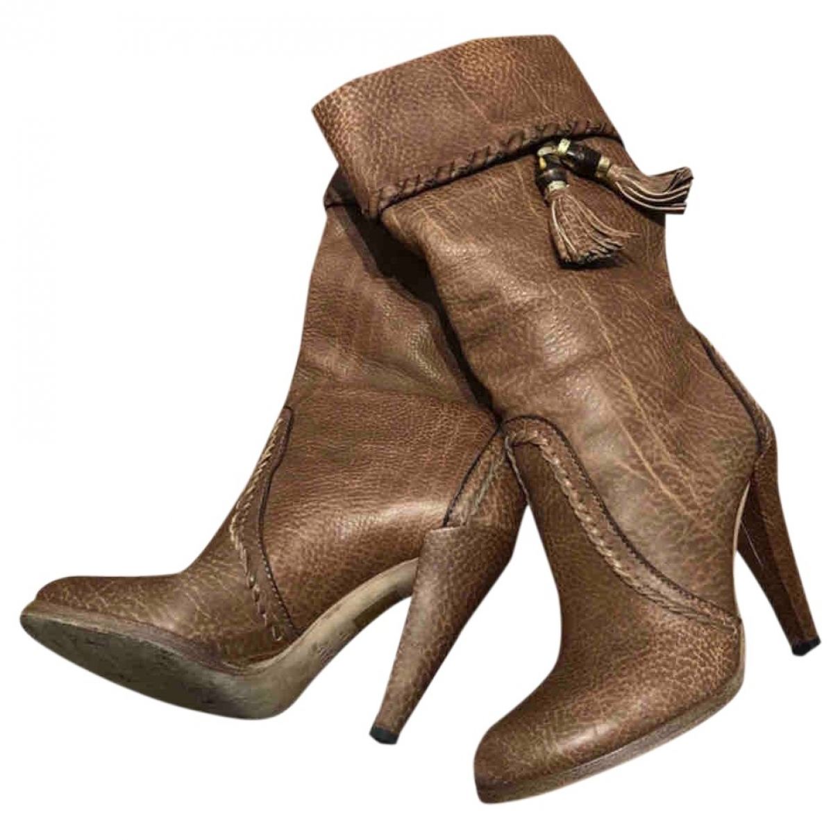 Gucci \N Brown Leather Boots for Women 37 EU