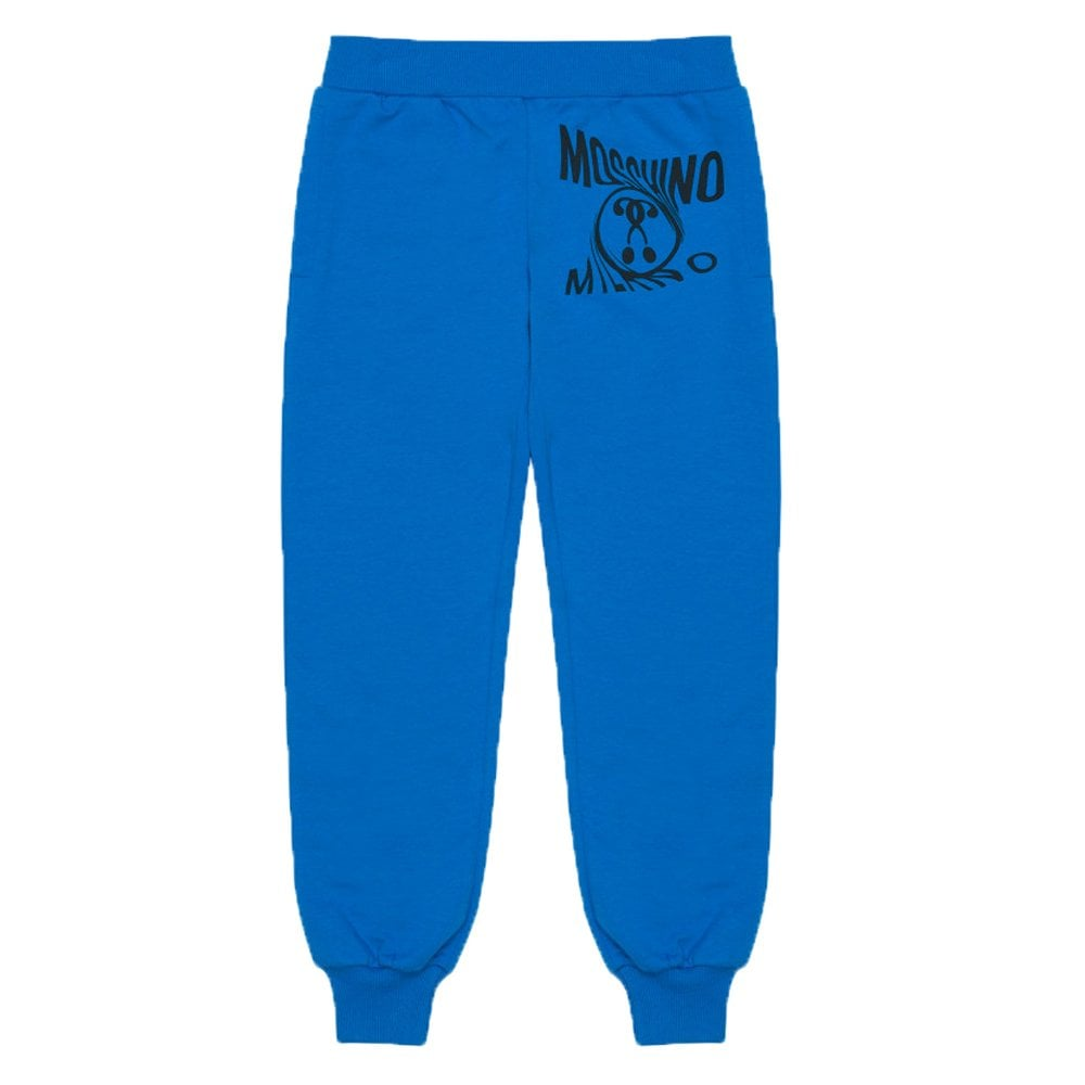 Moschino Joggers Colour: BLUE, Size: 10 YEARS