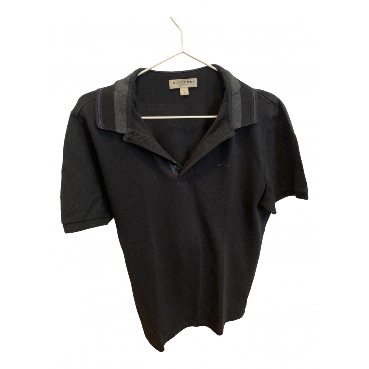 Burberry \N Anthracite Cotton Polo shirts for Men L International