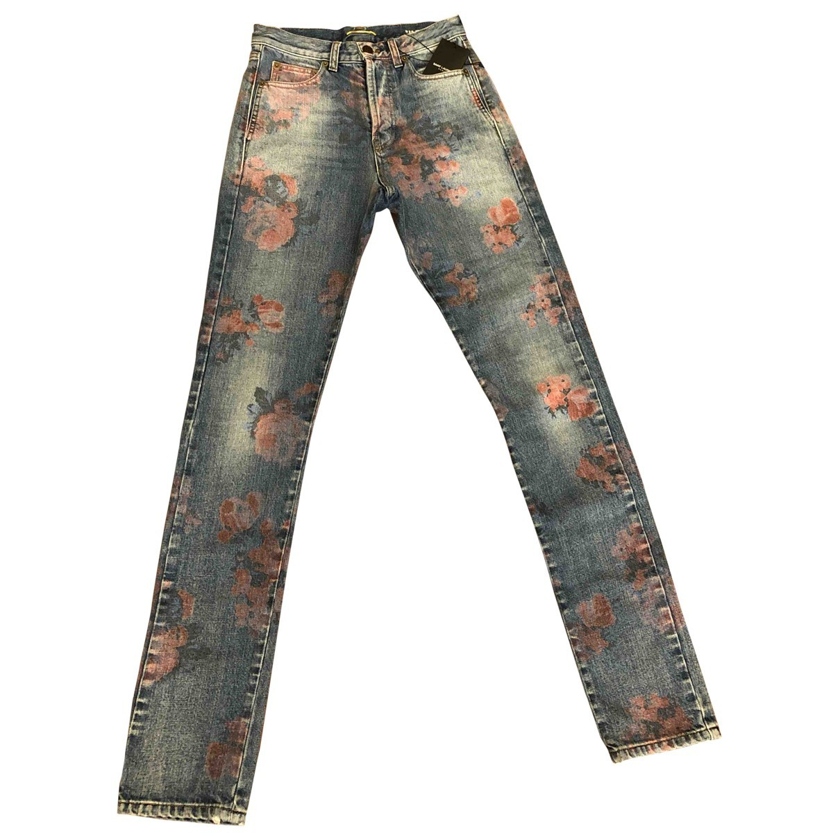 Saint Laurent \N Blue Denim - Jeans Trousers for Women 34 FR