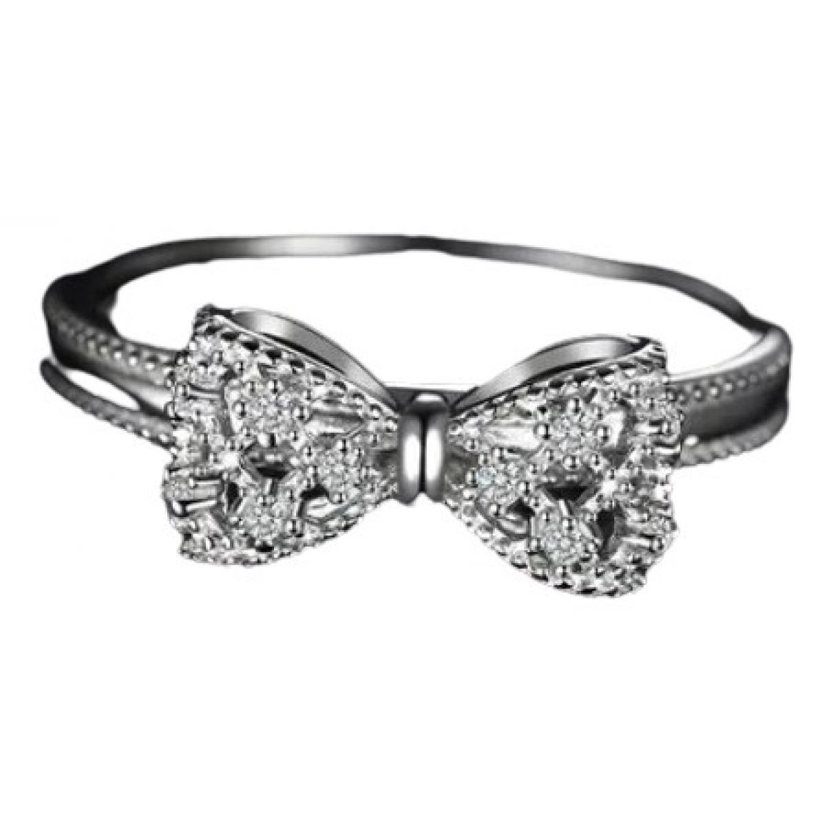 Non Signé / Unsigned Motifs Floraux Silver Silver ring for Women 60 MM