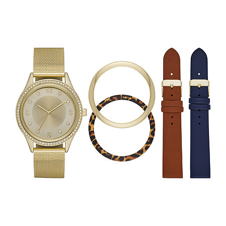 Mixit Womens Crystal Accent Gold Tone 5-pc. Watch Boxed Set-Fmdjset302, One Size , No Color Family