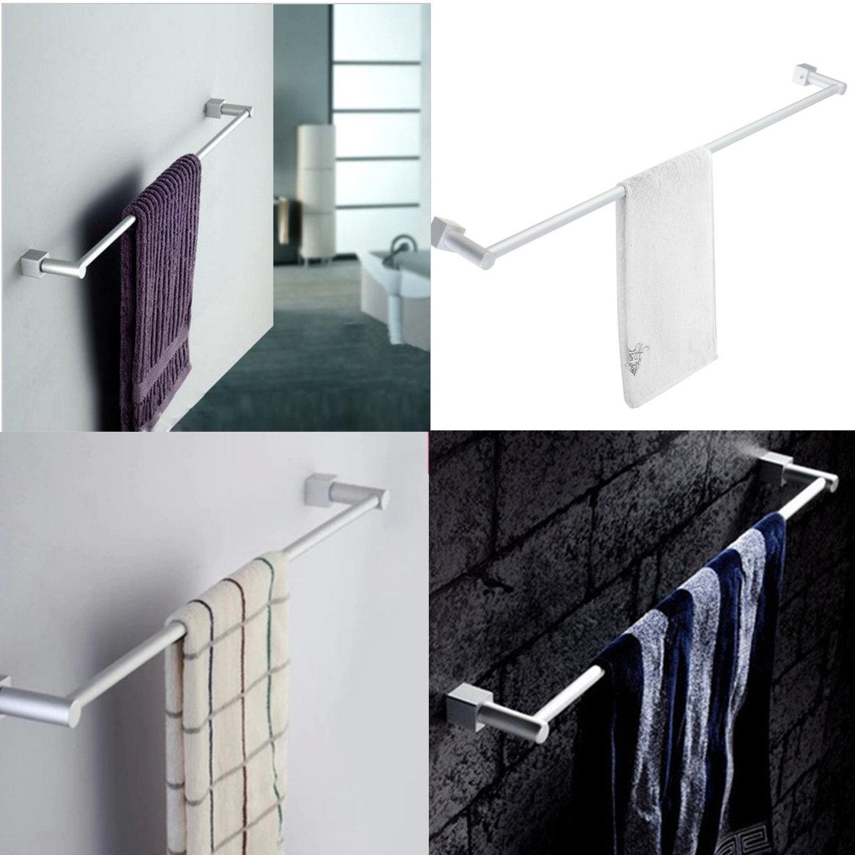60CM HQ Aluminum Wall-Mounted Bathroom Towel Holders Hanging Rack Shelf