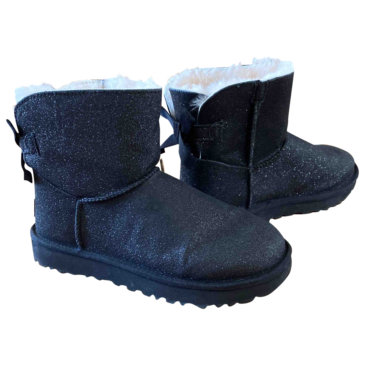 Ugg \N Anthracite Suede Ankle boots for Women 38 EU