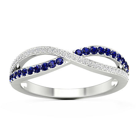 Womens 1/10 CT. T.W. Genuine Blue Sapphire 10K Gold Cocktail Ring, 9 , No Color Family