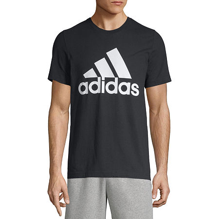 adidas Mens Crew Neck Short Sleeve T-Shirt, Small , Black