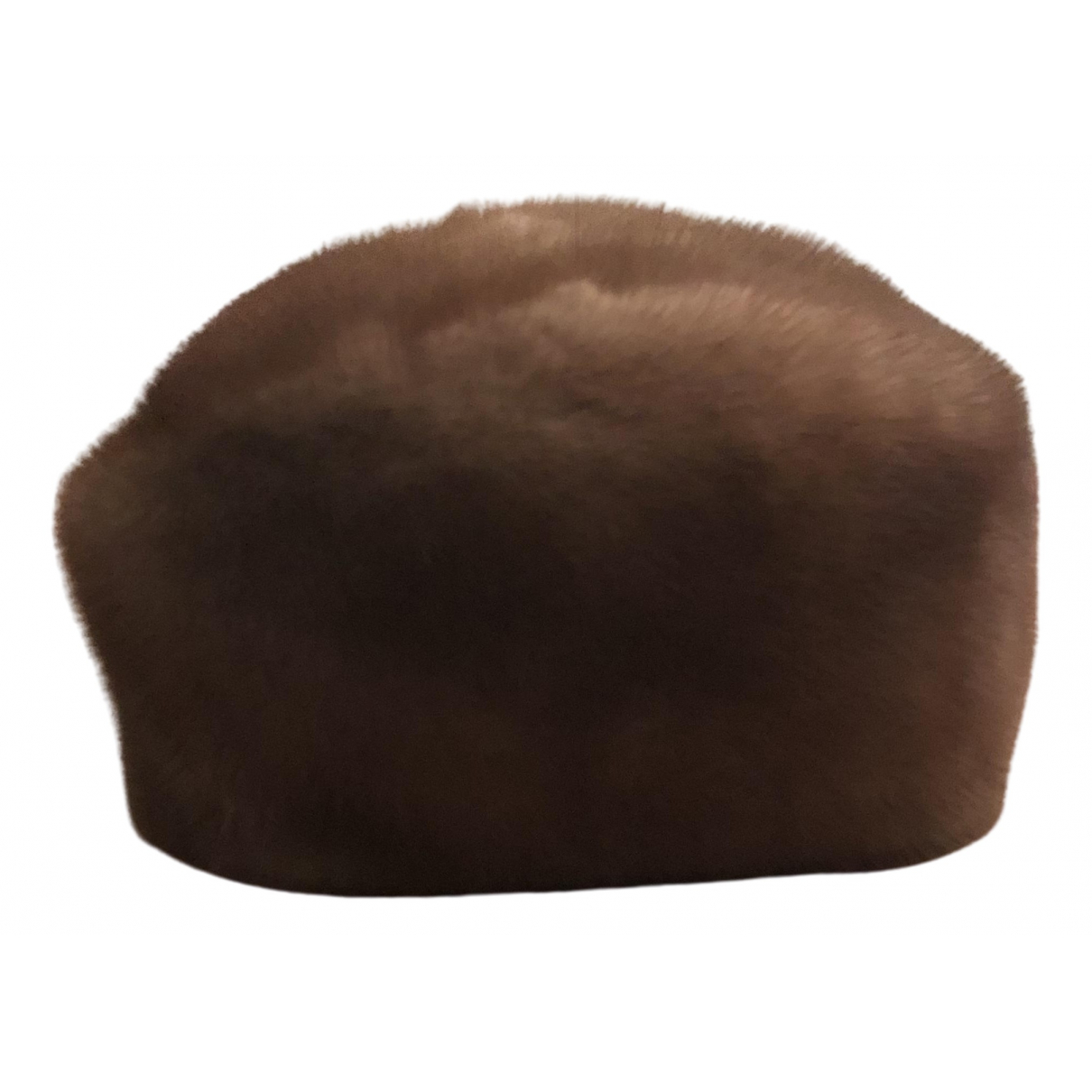 Non Signé / Unsigned \N Camel Mink hat for Women S International